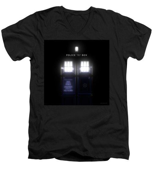 The Glass Police Box Men's V-Neck T-Shirt