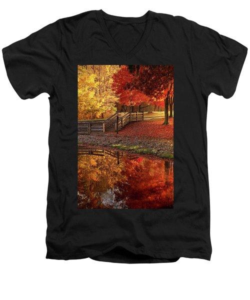 The Glory Of Autumn Men's V-Neck T-Shirt