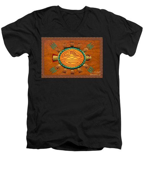 The Golden Spirit Turtle Men's V-Neck T-Shirt