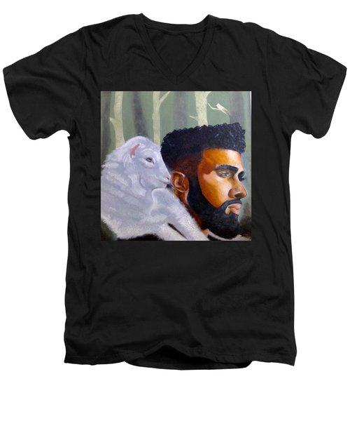The Good Shepherd  Men's V-Neck T-Shirt
