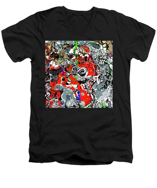 The Grapevine Wall Section 1 Men's V-Neck T-Shirt