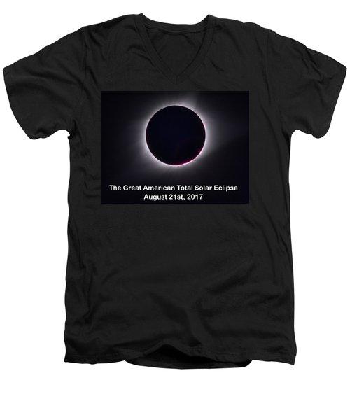 The Great American Total Ecplise T-shirt And Mug Men's V-Neck T-Shirt