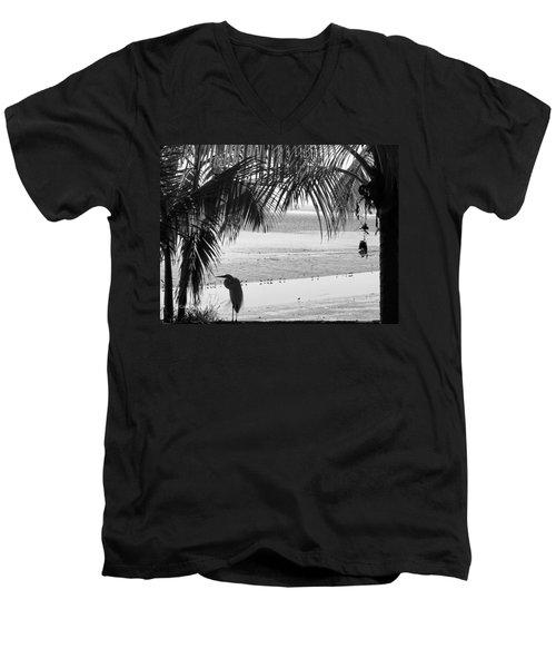 Watching The Tide Men's V-Neck T-Shirt