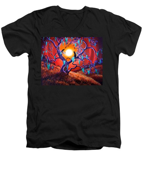 The Halloween Tree Men's V-Neck T-Shirt by Laura Iverson