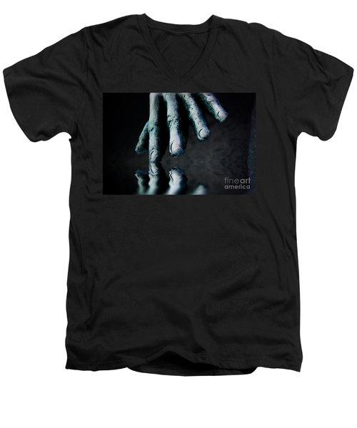 The Healing Touch Men's V-Neck T-Shirt by Kym Clarke