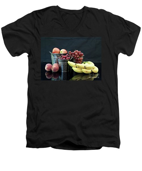Men's V-Neck T-Shirt featuring the photograph The Healthy Choice Selection by Sherry Hallemeier
