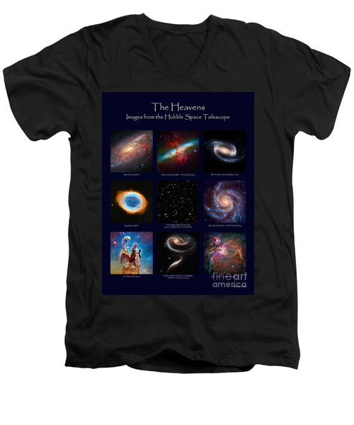 The Heavens - Images From The Hubble Space Telescope Men's V-Neck T-Shirt