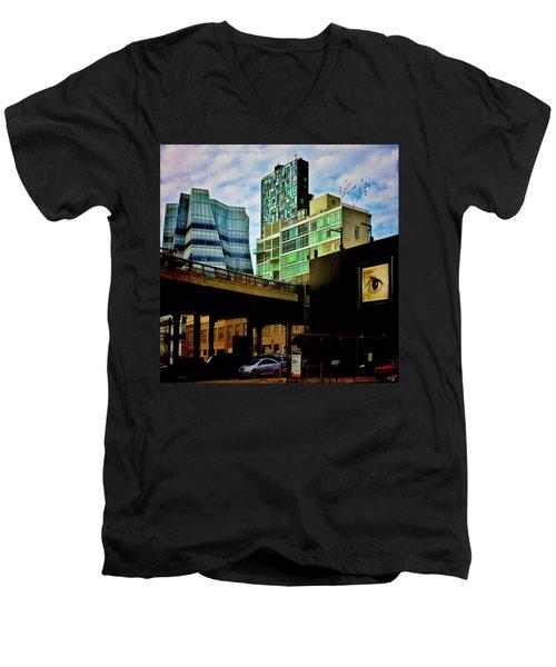 The Highline Nyc Men's V-Neck T-Shirt