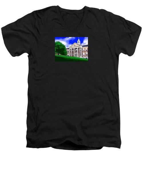 The Hill Men's V-Neck T-Shirt by Jean Pacheco Ravinski