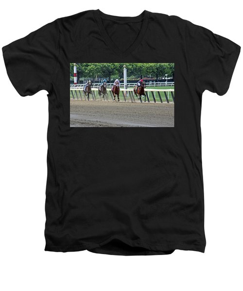 The Home Stretch Men's V-Neck T-Shirt