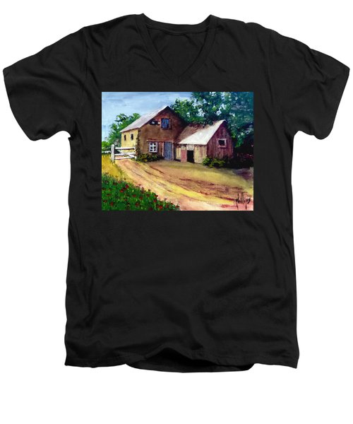 The House Barn Men's V-Neck T-Shirt