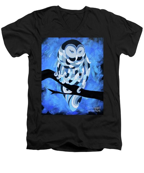 The Ice Owl Men's V-Neck T-Shirt