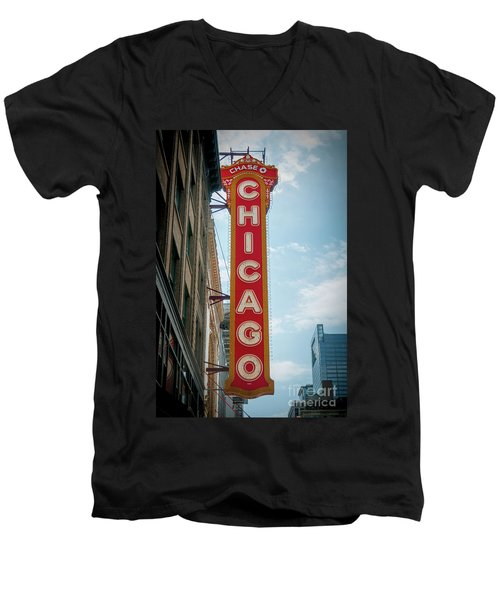 The Iconic Chicago Theater Sign Men's V-Neck T-Shirt