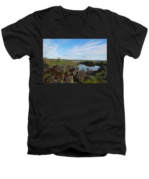 The Inlet Watchers Men's V-Neck T-Shirt