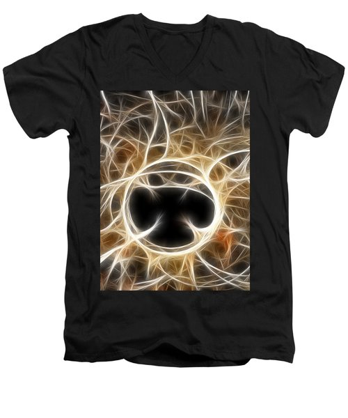 Men's V-Neck T-Shirt featuring the digital art The Invitation by Holly Ethan