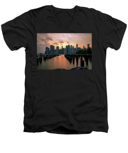 The Island Of Manhattan  Men's V-Neck T-Shirt