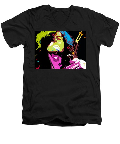 The Jimmy Page By Nixo Men's V-Neck T-Shirt by Nicholas Nixo