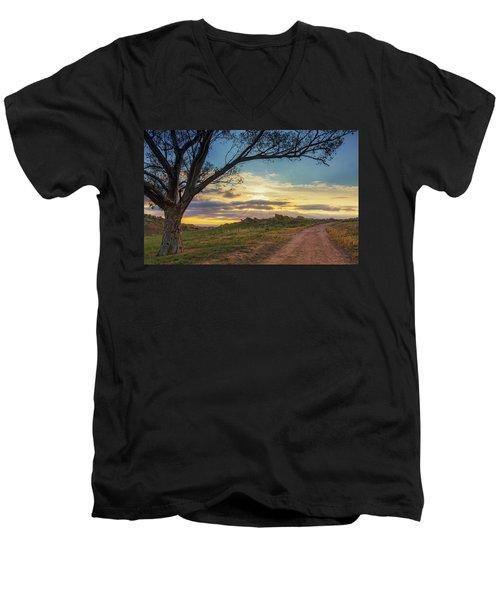 The Journey Home Men's V-Neck T-Shirt by Tassanee Angiolillo