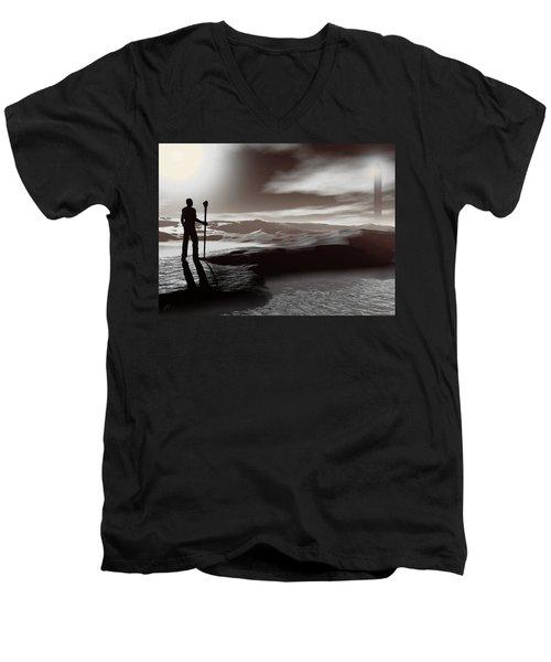 The Journey Men's V-Neck T-Shirt by John Alexander