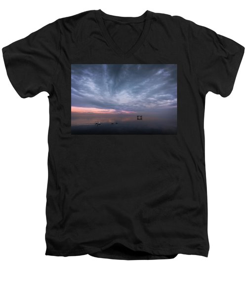 The Journey Of The Swans Men's V-Neck T-Shirt by Dominique Dubied