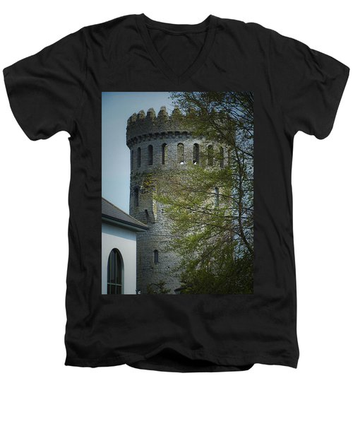The Keep At Nenagh Castle Ireland Men's V-Neck T-Shirt