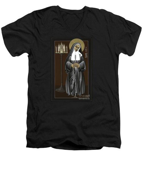 The Kenosis Of St Bernadette Of Lourdes 063 Men's V-Neck T-Shirt