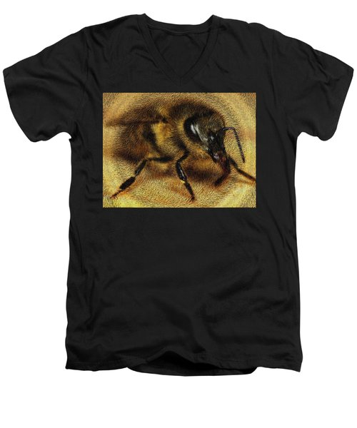 The Killer Bee Men's V-Neck T-Shirt by ISAW Gallery