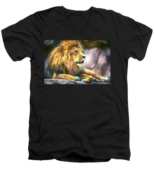 The King Of Cool Men's V-Neck T-Shirt by Tina LeCour
