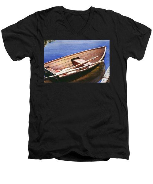 The Lake Boat Men's V-Neck T-Shirt