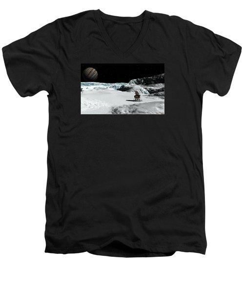 The Lander Ulysses On Europa Men's V-Neck T-Shirt