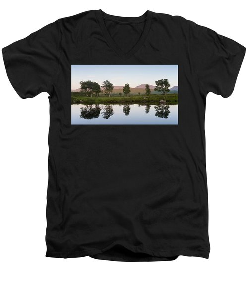 The Last Light At Loch Ba Men's V-Neck T-Shirt