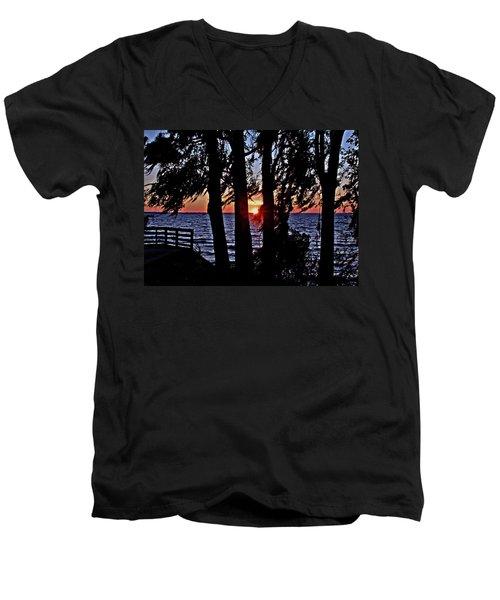 The Last Sun Men's V-Neck T-Shirt