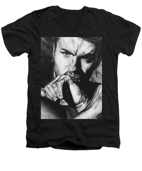 The Late Great George Michaels Men's V-Neck T-Shirt
