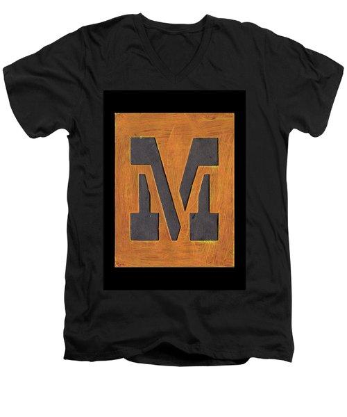 The Letter M Men's V-Neck T-Shirt