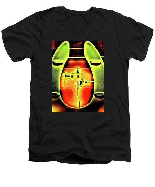 Men's V-Neck T-Shirt featuring the photograph The Lid by John King