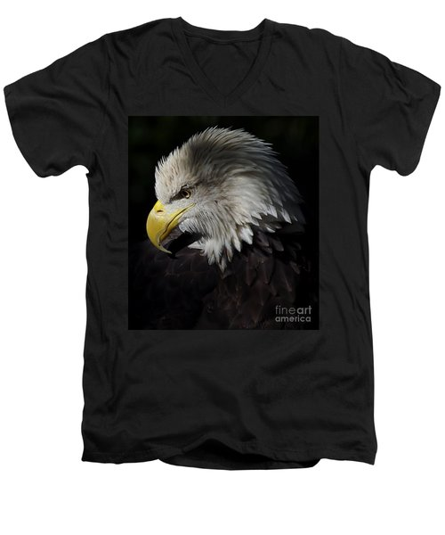 The Look Men's V-Neck T-Shirt by Liz Masoner