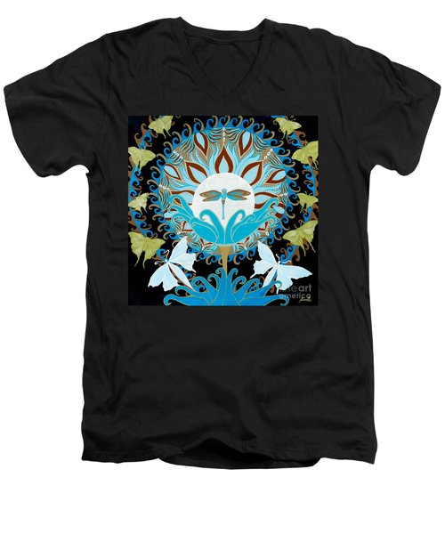 The Luna Moth Journey Of Faith And Love Men's V-Neck T-Shirt