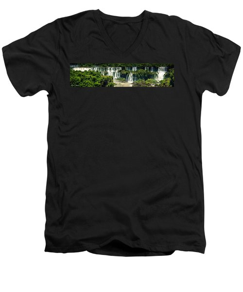 The Mighty Iguazu  Men's V-Neck T-Shirt by Andrew Matwijec
