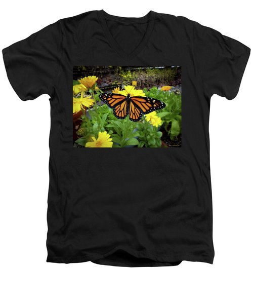 The Mighty Monarch  Men's V-Neck T-Shirt