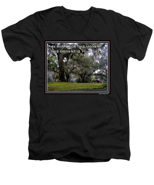 Men's V-Neck T-Shirt featuring the photograph The Moment by Irma BACKELANT GALLERIES