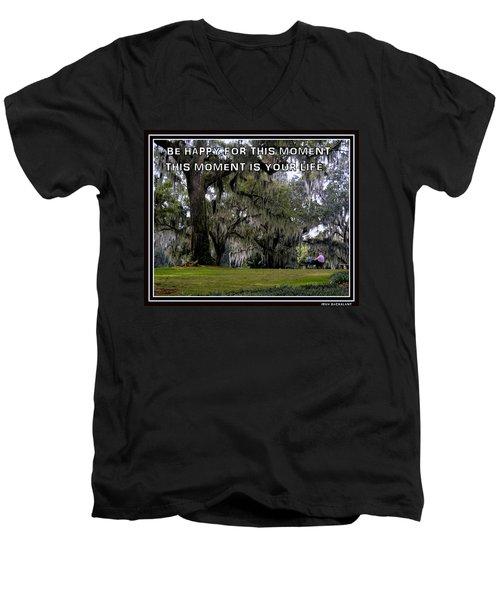 The Moment Men's V-Neck T-Shirt by Irma BACKELANT GALLERIES