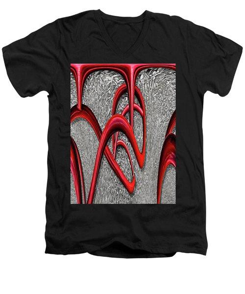 The Monday Lipstick Caper Men's V-Neck T-Shirt