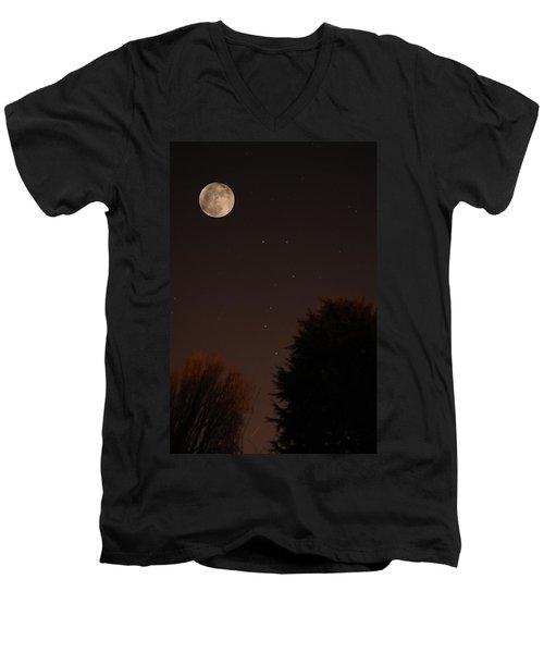 The Moon And Ursa Major Men's V-Neck T-Shirt