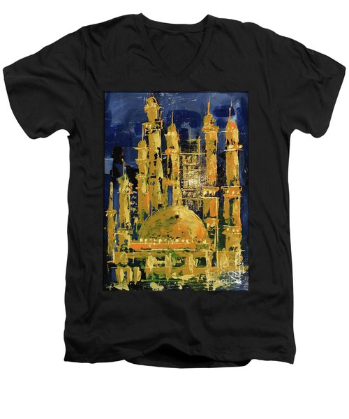 The Mosque-3 Men's V-Neck T-Shirt