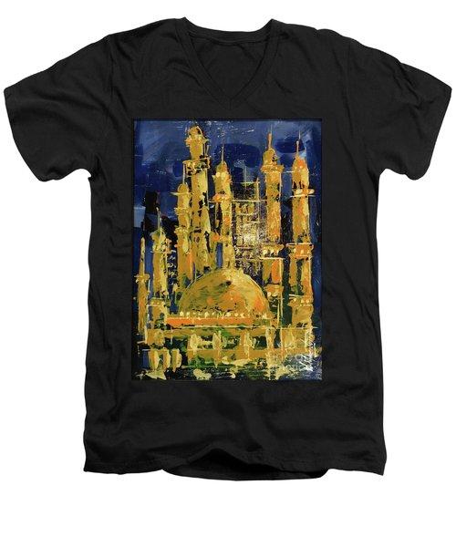 The Mosque-3 Men's V-Neck T-Shirt