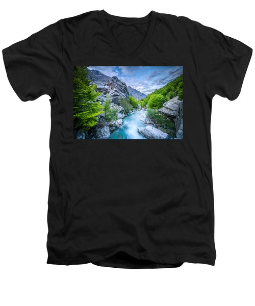 The Mountain Spring Men's V-Neck T-Shirt