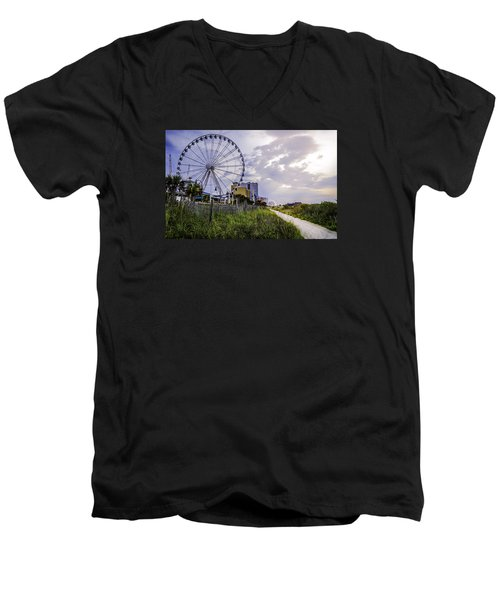 The Myrtle Beach, South Carolina Skywheel At Sunrise. Men's V-Neck T-Shirt