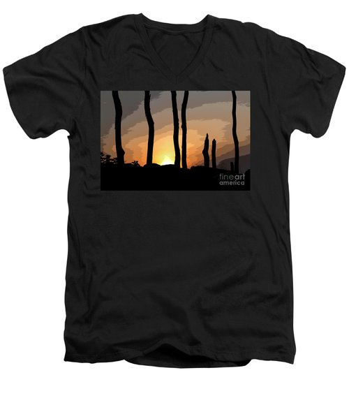 The New Dawn Men's V-Neck T-Shirt