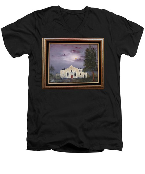 The Night Before Men's V-Neck T-Shirt by Al Johannessen