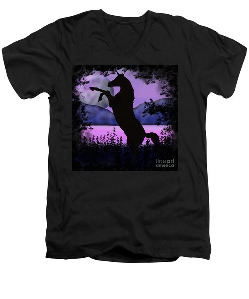 The Night Of The Unicorn Men's V-Neck T-Shirt